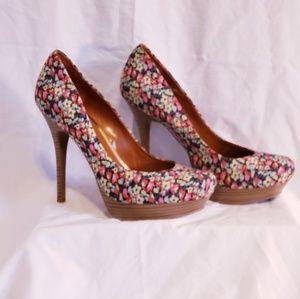 Jessica Simpson Floral Platform Heels